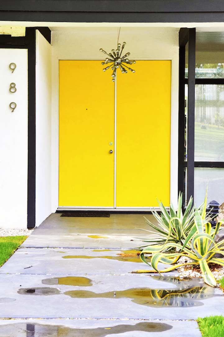 Dolly faibyshev yellow doors with sputnik detail