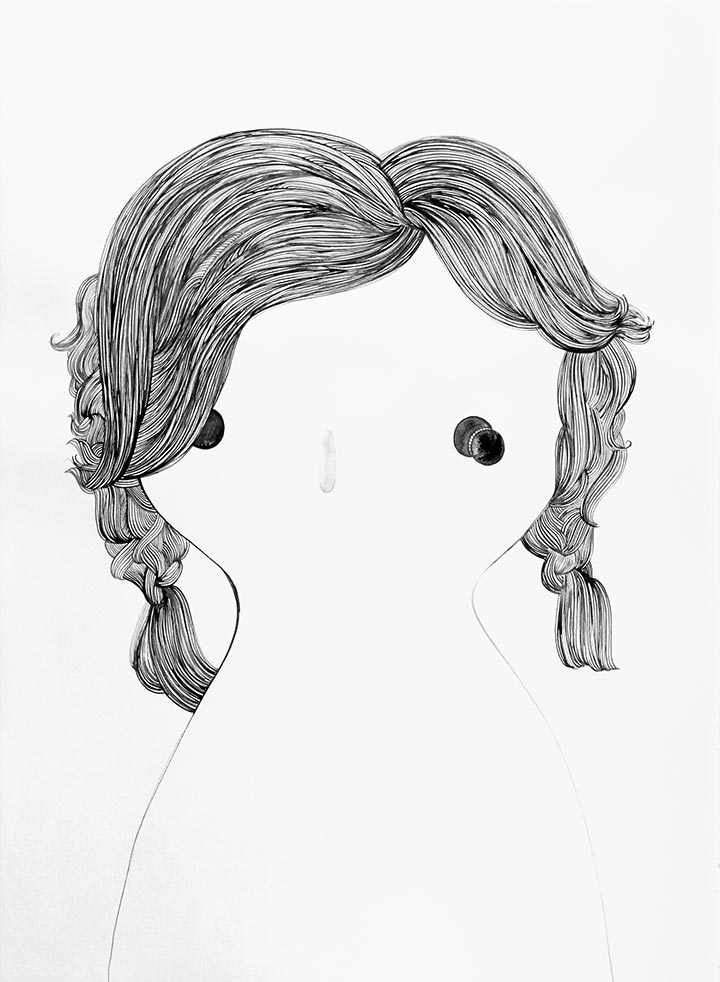Rebeca raney hair drawing 09 detail